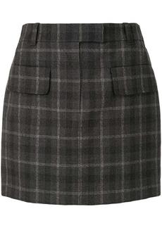 Vera Wang high-waisted check skirt