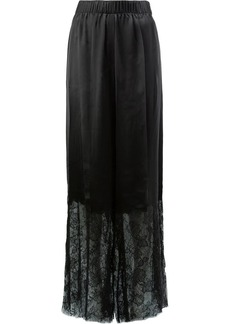 Vera Wang lace trimmed trousers