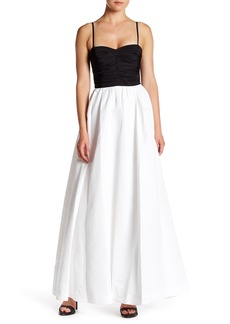 Vera Wang Lavender Taffeta Gown