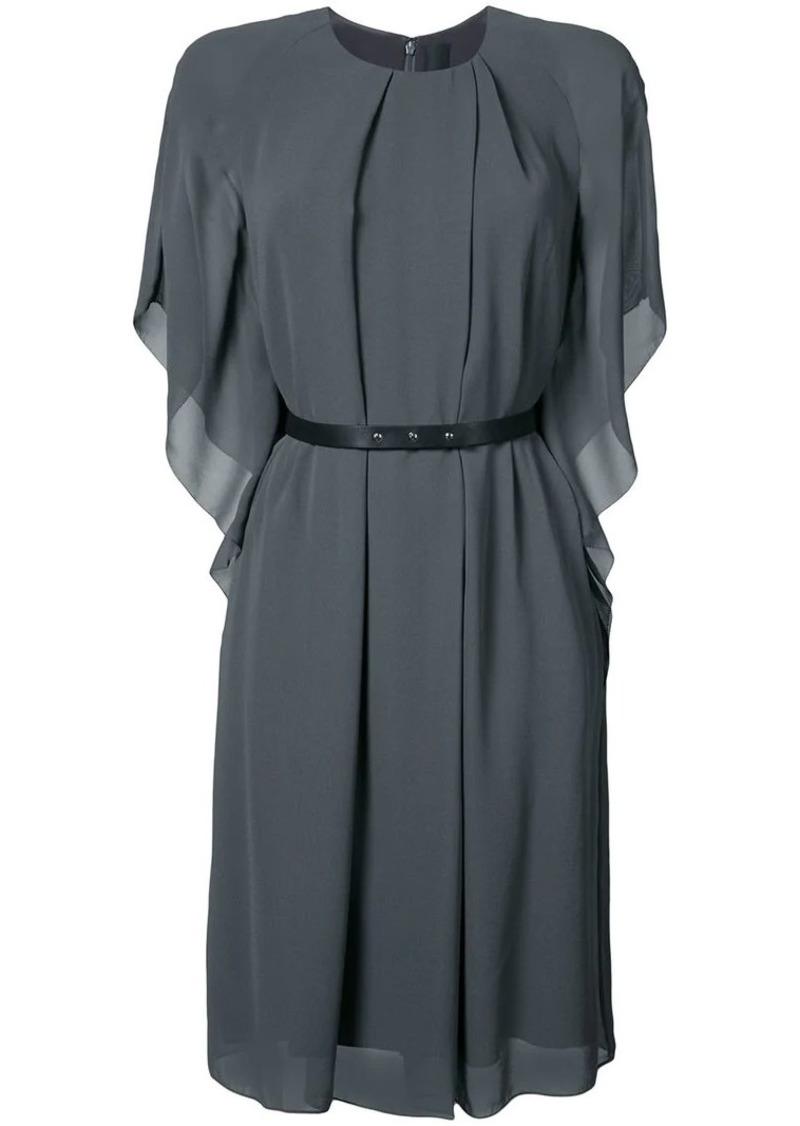 Vera Wang leather belt kimono dress