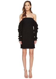 Vera Wang Off the Shoulder Shift Dress with Draped Sleeve