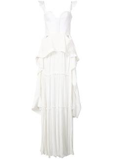 Vera Wang ruffle maxi dress