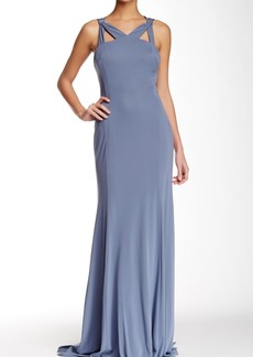 Vera Wang Sleeveless Cutout Gown