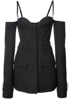 Vera Wang spaghetting strapped long sleeeved jacket