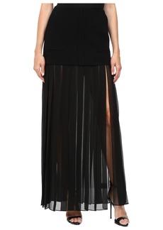 Vera Wang Tiered Pleated Skirt
