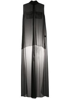 Vera Wang transparent shirt dress