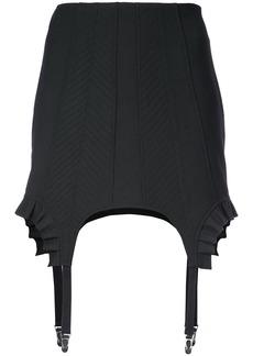 Vera Wang asymmetric fitted short skirt - Black