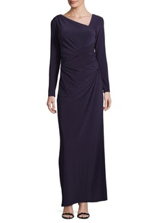 Vera Wang Asymmetrical Poppy Floor-Length Dress