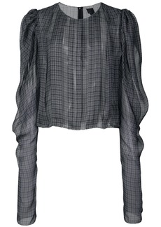 Vera Wang checkered print loose blouse
