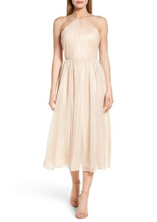 Vera Wang Chiffon Midi Dress
