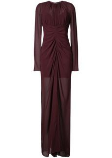 Vera Wang draped sheer gown - Red