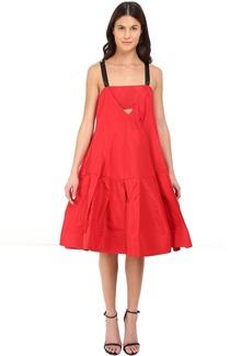 Vera Wang Dress w/ Cami Neckline & Voluminous Skirt