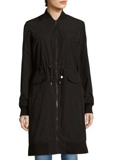 Vera Wang Dylan Long Bomber Jacket