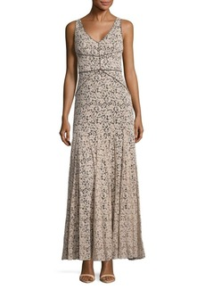Vera Wang Fit & Flare Ankle-Length Dress
