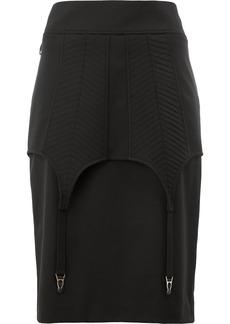 Vera Wang fitted midi skirt - Black
