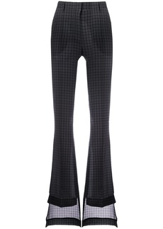 Vera Wang flared tailored trousers - Grey