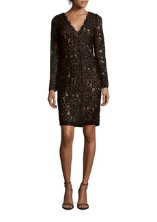 Vera Wang Floral Lace Dress