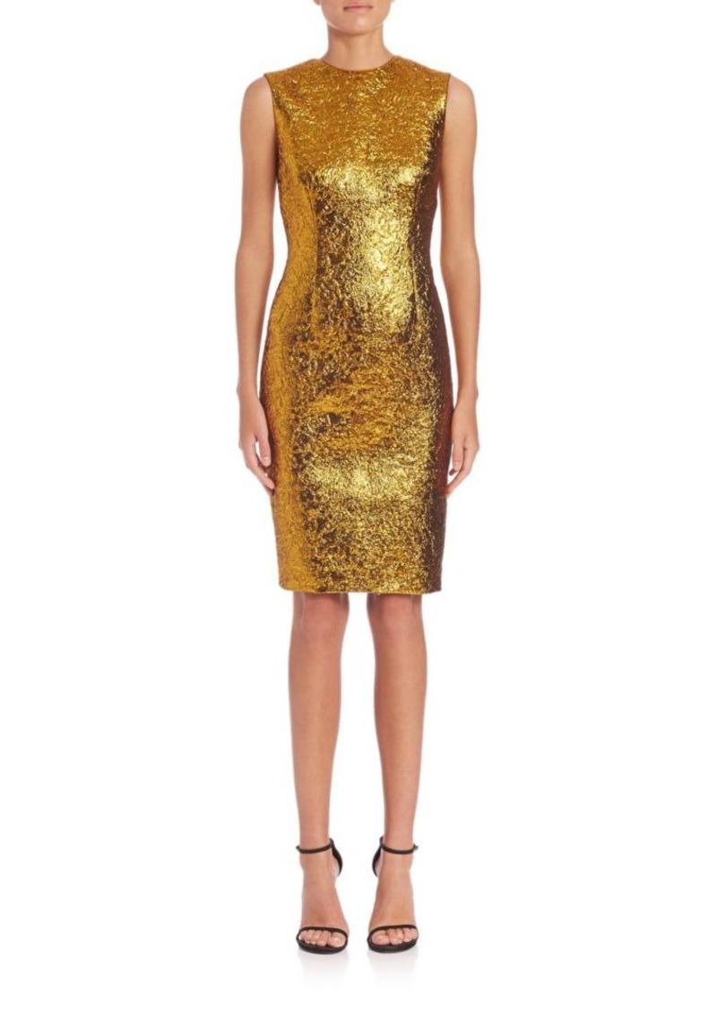 Vera Wang Foil Jacquard Sheath Dress