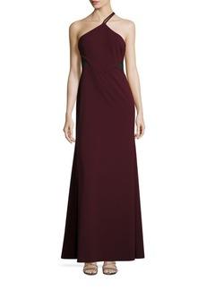 Vera Wang Illusion Cutout Evening Gown