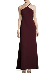 VERA WANG Illusion Cutout Evening Gown