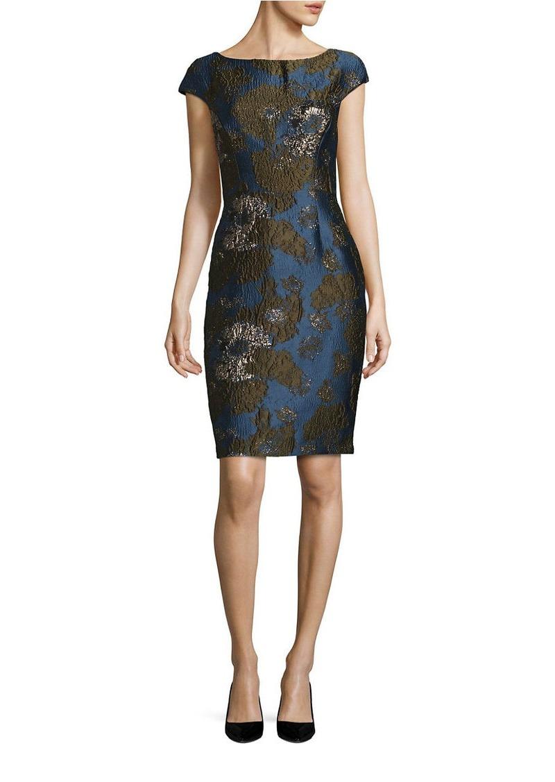 VERA WANG Jacquard Sheath Dress