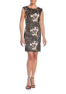 Vera Wang Jewelneck Sleeveless Dress