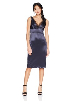 Vera Wang Junior's Sleeveless Double V Cocktail Dress