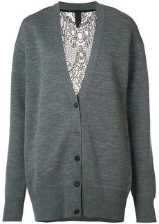 Vera Wang lace back cardigan - Grey