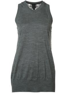 Vera Wang lace back tank top - Grey