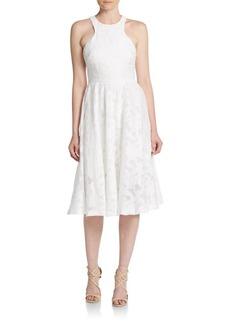 Vera Wang Lace Fit-&-Flare Dress