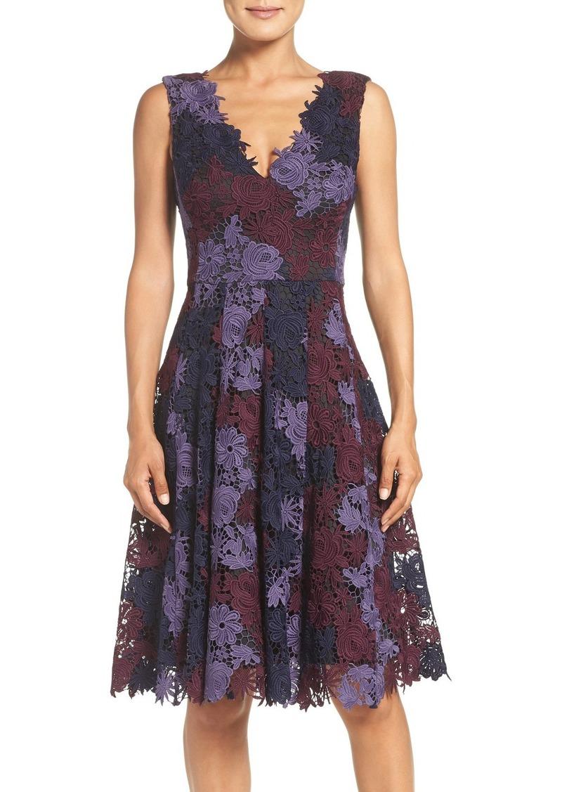 Vera Wang Lace Fit & Flare Dress