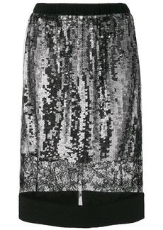 Vera Wang lace panel sequin skirt - Black