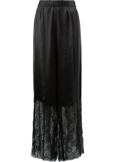 Vera Wang lace trimmed trousers - Black
