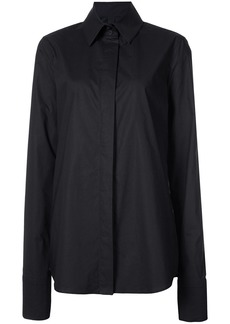 Vera Wang long-sleeve fitted shirt - Black