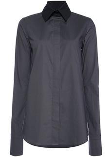 Vera Wang long-sleeve fitted shirt - Grey
