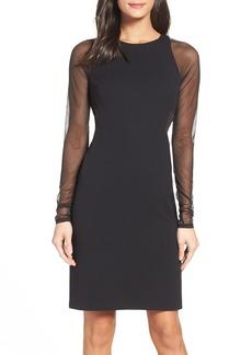 Vera Wang Mesh Body-Con Dress