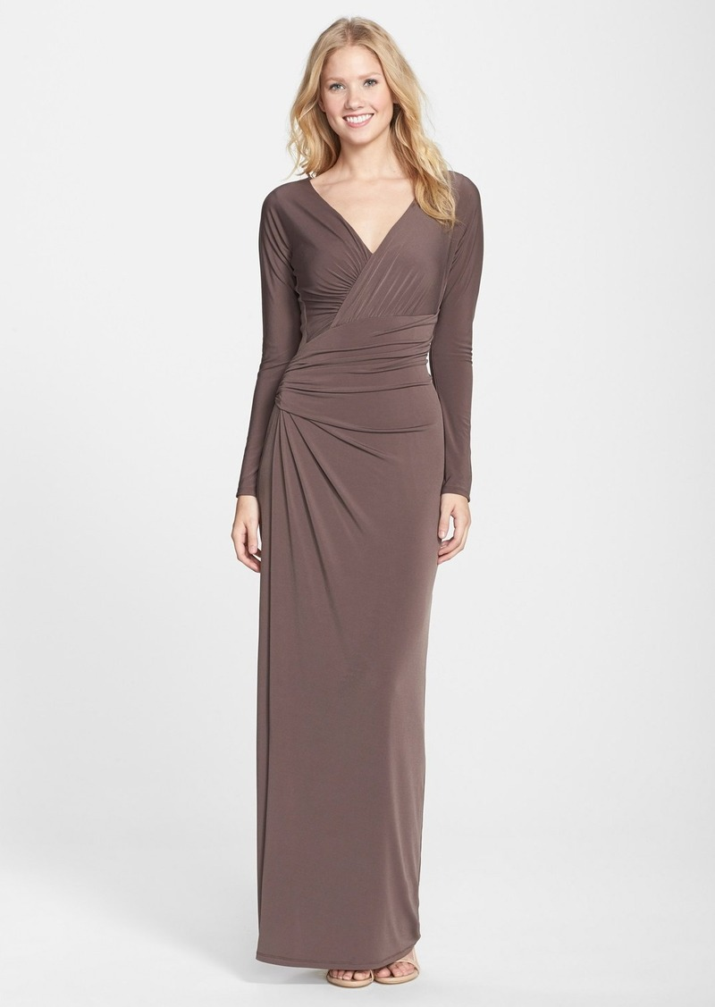 Vera wang vera wang ruched jersey gown dresses shop it for Boutique en ligne vera wang