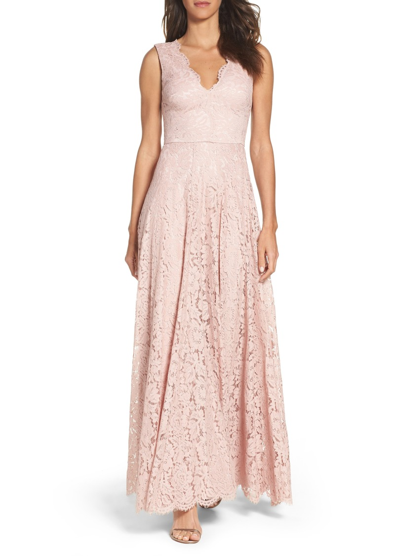 Scalloped Lace Gown
