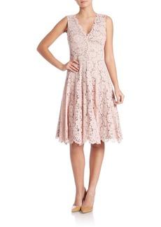 Vera Wang Scarlet Lace A-Line Dress