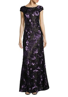 Vera Wang Sequined Rose Gown