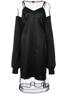 Vera Wang sheer midi dress - Black