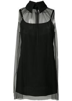 Vera Wang sheer sleeveless top - Black