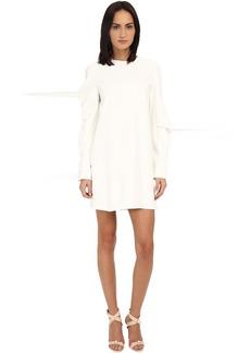 Vera Wang Shift Dress w/ Asymmetrical Sleeves