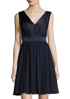 Vera Wang Sleeveless Chiffon Cocktail Dress