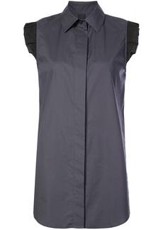 Vera Wang sleeveless ruffle-hem top - Grey