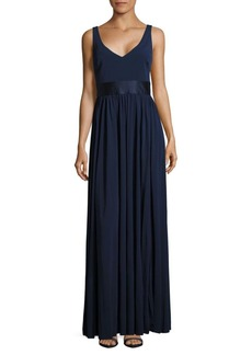 Vera Wang Solid Sleeveless Gown