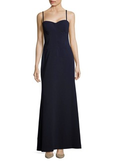 Vera Wang Solid Sweetheart-Neckline Gown