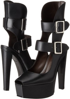 Vera Wang Stacked High Heel with Double Ankle Straps