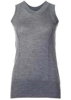 Vera Wang tulle insert tank - Grey