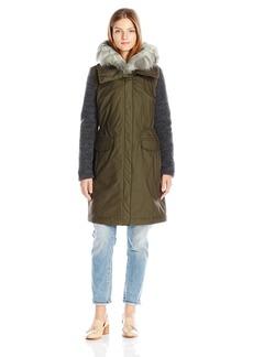 Vera Wang Women's Brie Sb Parka Coat  S